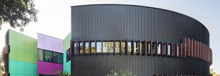 Ivanhoe Grammar School. Walling made from COLORBOND® steel
